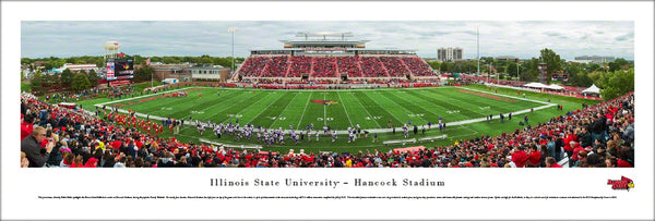 Illinois State Redbirds Football Hancock Stadium Gameday Panoramic Poster Print - Blakeway 2015