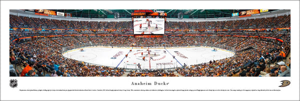 Anaheim Ducks Honda Center NHL Game Night Panoramic Poster Print - Blakeway Worldwide