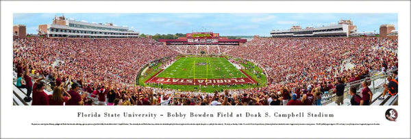 "Florida State Seminoles Football ""End Zone"" Doak Campbell Stadium Panoramic Poster Print - Blakeway"