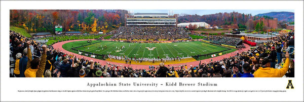 Appalachian State Football Kidd-Brewer Stadium Gameday Panoramic Poster - Blakeway 2015