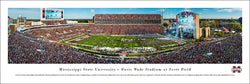 Mississippi State Bulldogs Football Davis Wade Stadium Gameday Panoramic Poster Print - Blakeway