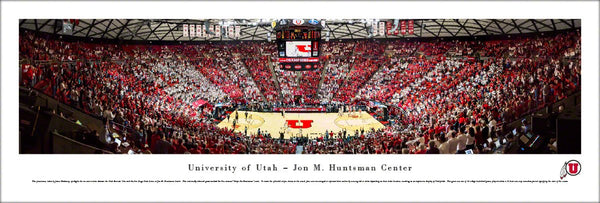 Utah Utes Basketball Huntsman Center Game Night Panoramic Poster Print - Blakeway Worldwide