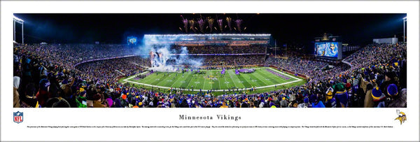 Minnesota Vikings TCF Bank Stadium Game Night Panoramic Poster Print - Blakeway 2015