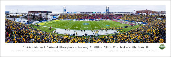North Dakota State Bison Football FCS Championship Game 2016 Panoramic Poster - Blakeway