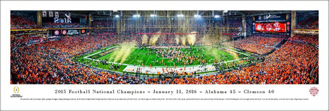 Alabama Crimson Tide 2015 NCAA Football National Champions Panoramic Poster Print - Blakeway