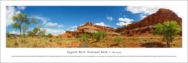 "Capitol Reef National Park ""The Castle"" Panoramic Landscape Poster Print - Blakeway Worldwide"