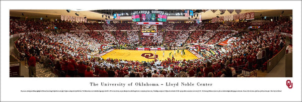 Oklahoma Sooners Basketball Lloyd Noble Center Panoramic Poster Print - Blakeway 2016