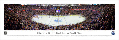Edmonton Oilers Final Game at Rexall Place (2016) Panoramic Poster Print - Blakeway Worldwide