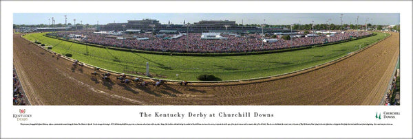 "The Kentucky Derby ""Back Stretch"" Horse Race Action Panoramic Poster Print - Blakeway Worldwide"