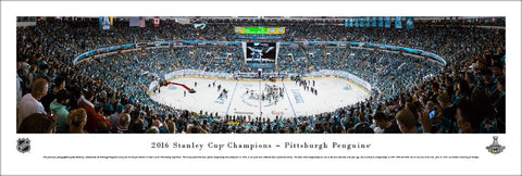 Pittsburgh Penguins 2016 Stanley Cup Champions (Game 6) Panoramic Poster Print - Blakeway
