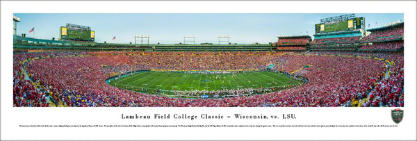 Wisconsin Badgers Football at Lambeau Field Panoramic Poster Print - Blakeway 2016