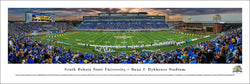 South Dakota State Jackrabbits Football Game Night Panoramic Poster Print - Blakeway Worldwide