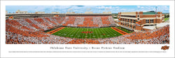 "Oklahoma State Cowboys Football ""Stripes"" Gameday Panoramic Poster Print - Blakeway Worldwide"