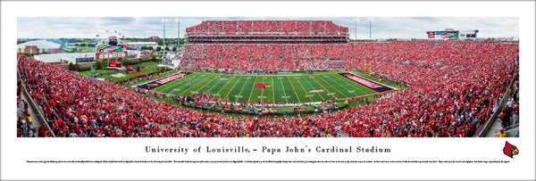 Louisville Cardinals Football Gameday at Papa John's Panoramic Poster Print - Blakeway 2016