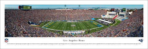 "Los Angeles Rams ""Return to LA"" (9/18/2016) Memorial Coliseum Panoramic Poster Print - Blakeway"