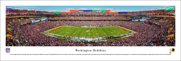 Washington Redskins FedEx Field Gameday Panoramic Poster Print - Blakeway Worldwide