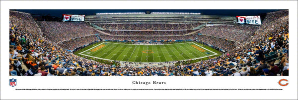 Chicago Bears Soldier Field Game Night Panoramic Poster Print - Blakeway 2016