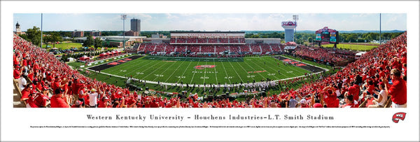 Western Kentucky Hilltoppers Football Smith Stadium Gameday Panoramic Poster - Blakeway Worldwide