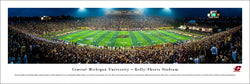 Central Michigan Chippewas Football Game Night Panoramic Poster Print - Blakeway 2016