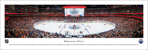 Edmonton Oilers Opening Game at Rogers Place Panoramic Poster Print - Blakeway Worldwide