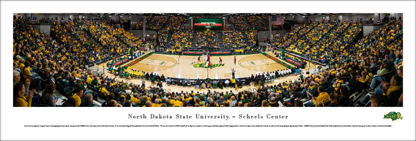 North Dakota State Bison Basketball Scheels Arena Panoramic Poster Print  - Blakeway Worldwide