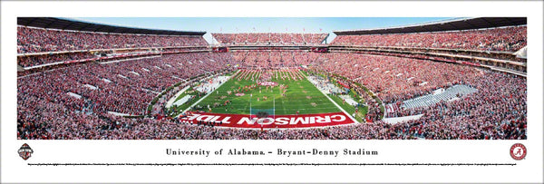 Alabama Crimson Tide Football Iron Bowl Gameday Panoramic Poster Print - Blakeway 2016