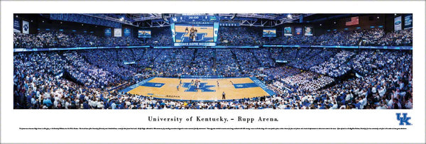 Kentucky Wildcats Rupp Arena Basketball Game Night Panoramic Poster Print - Blakeway 2016