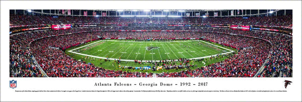 Atlanta Falcons Last Regular-Season Game at Georgia Dome (2017) Panoramic Poster Print - Blakeway
