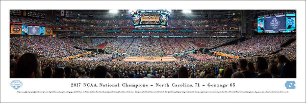 North Carolina Tar Heels 2017 NCAA Basketball Champions Panoramic Poster Print - Blakeway
