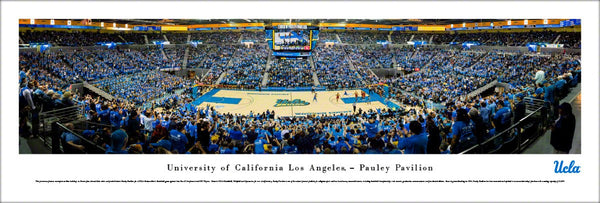 UCLA Bruins Basketball Pauley Pavilion Game Night Panoramic Poster Print (2017) - Blakeway