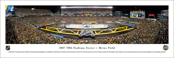Pittsburgh Penguins NHL Stadium Series at Heinz Field (2017) Panoramic Poster Print - Blakeway