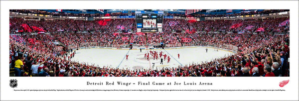 Detroit Red Wings Final Game at Joe Louis Arena Panoramic Poster Print - Blakeway