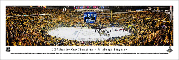 Pittsburgh Penguins 2017 Stanley Cup Champions (Game 6) Panoramic Poster Print