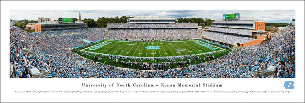 North Carolina Tar Heels Football Kenan Stadium Gameday Panoramic Poster Print - Blakeway