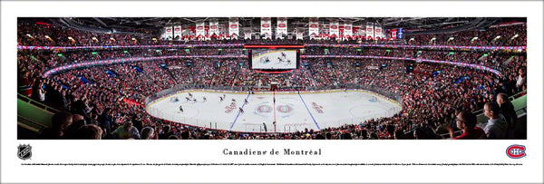 Montreal Canadiens Bell Centre NHL Game Night Panoramic Poster Print - Blakeway Worldwide