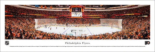 Philadelphia Flyers Wells Fargo Center NHL Game Night Panoramic Poster Print - Blakeway Worldwide