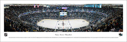 San Jose Sharks Hockey SAP Center Game Night Panoramic Poster Print - Blakeway Worldwide