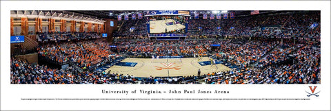 Virginia Cavaliers Basketball John Paul Jones Arena Panoramic Poster Print - Blakeway Worldwide