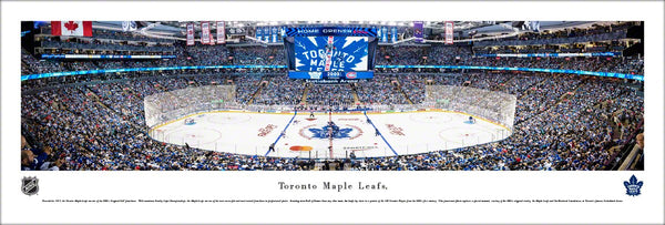 Toronto Maple Leafs Scotiabank Arena Game Night Panoramic Poster Print - Blakeway