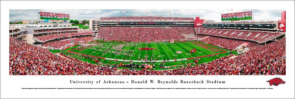 "Arkansas Razorbacks Football ""Out of the Pen"" Gameday Panoramic Poster Print - Blakeway Worldwide"