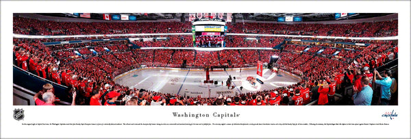 Washington Capitals Banner Night 2019 Capital One Arena Panoramic Poster Print - Blakeway 2019