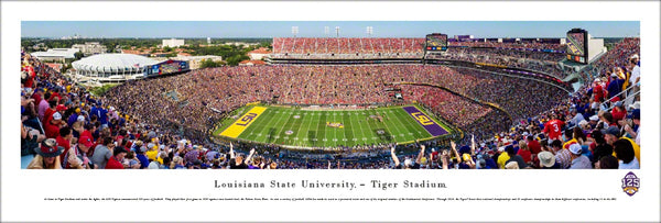 LSU Tigers Football 125th Anniversary Tiger Stadium Gameday Panoramic Poster Print - Blakeway 2018