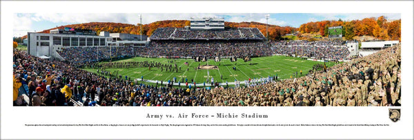 Army Black Knights vs. Air Force Falcons Football at Michie Stadium Panoramic Poster Print - Blakeway Worldwide