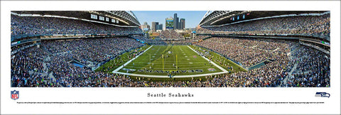 "Seattle Seahawks ""Touchdown!"" Gameday Panoramic Poster Print - Blakeway Worldwide"