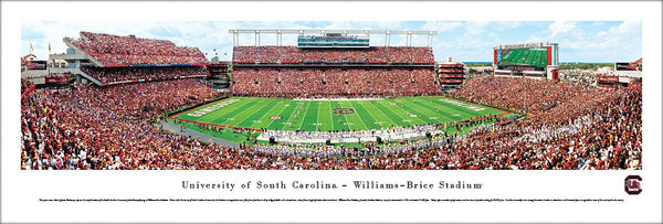 South Carolina Gamecocks Football Williams-Brice Stadium Gameday Panoramic Poster - Blakeway