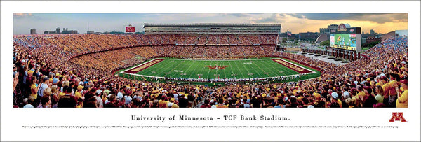 Minnesota Golden Gophers Football TCF Bank Stadium Gameday Panoramic Poster - Blakeway