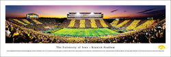 "Iowa Hawkeyes ""Spirit Game"" Kinnick Stadium Game Night Panoramic Poster Print - Blakeway 2011"