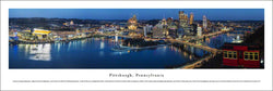 "Pittsburgh, Pennsylvania ""Celebration of Lights"" Downtown Skyline Panoramic Poster - Blakeway"