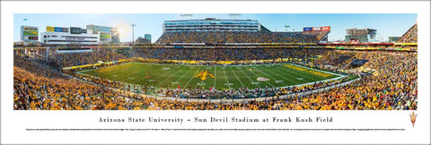 Arizona State Sun Devils Football Notre Dame Game 2014 Panoramic Poster Print - Blakeway