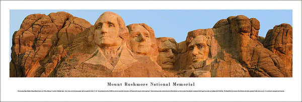 Mount Rushmore National Memorial Panoramic Landscape Poster Print - Blakeway Worldwide